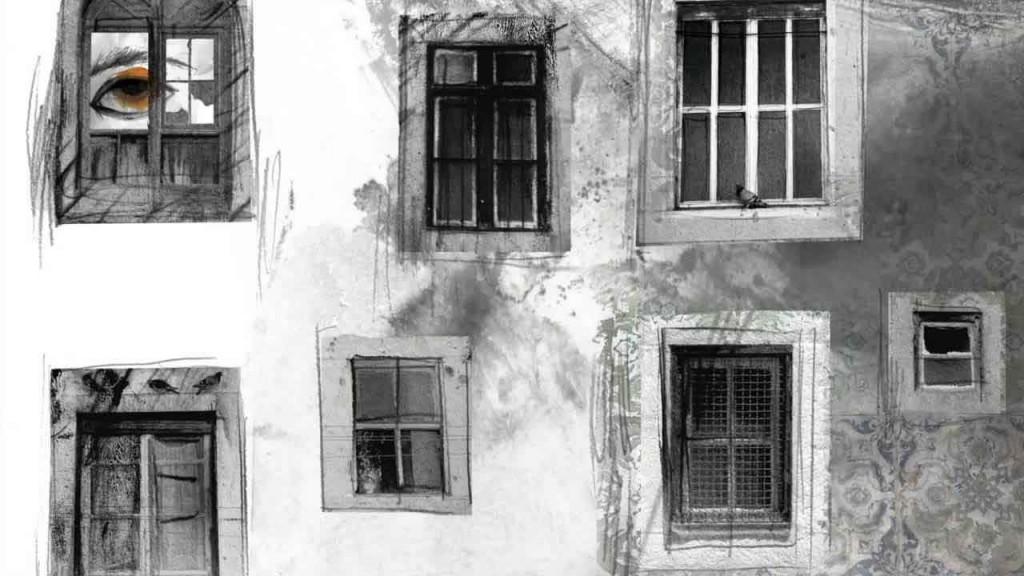 """Ilustración de Adolfo Serra para el poema """"Estanco"""", de Álvaro de Campos."""