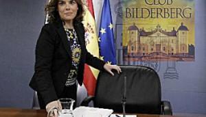 Algunos de los españoles invitados al Club Bilderberg: Pedro Sánchez, la reina Sofía, Ana Patricia Botín y Soraya Sáenz de Santamaría.