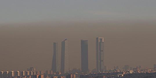 Alta contaminación por dióxido de nitrógeno en Madrid, y  el fraude de los vehículos diésel