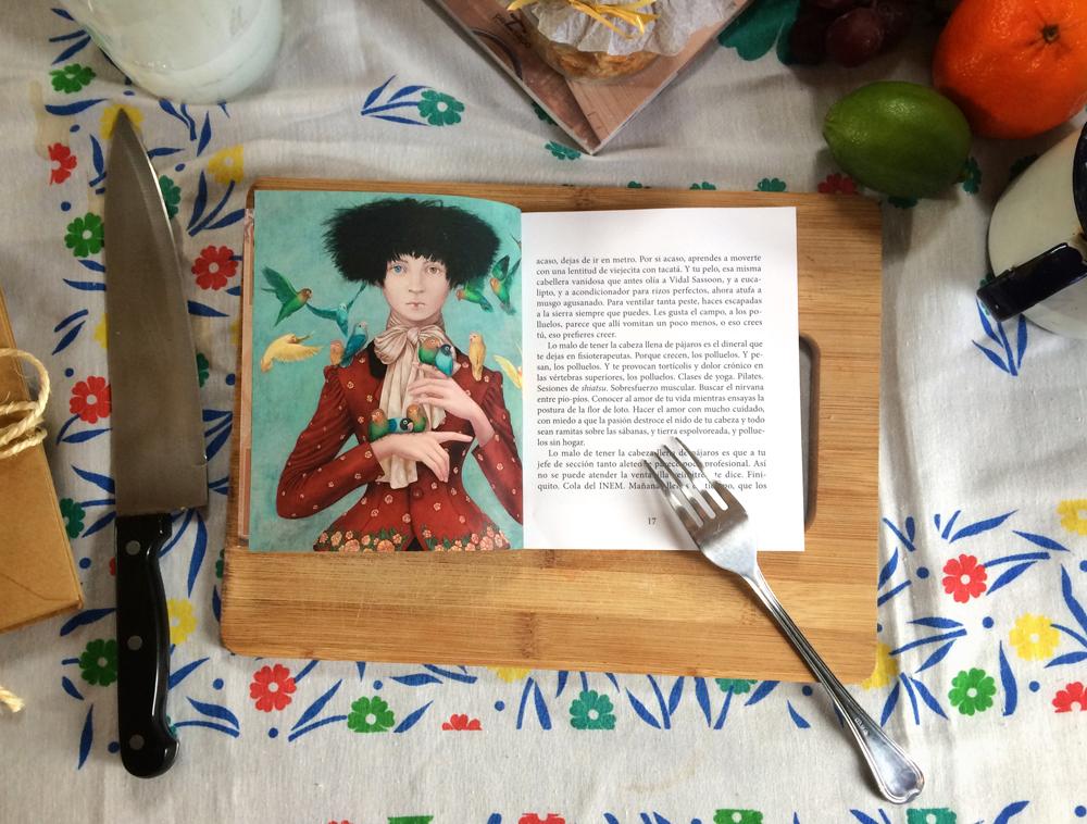 Nido, uno de los cuentos del libro 'Cuentos como churros', con el ingrediente: ilustración de Lázaro Ventura.