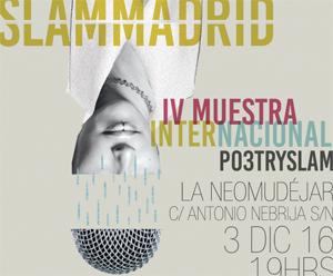Poetry Slam Madrid y el torneo de poesía internacional en directo, en La Neomudéjar