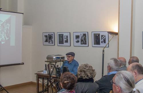 Proyección de fotografías de Eduardo Mozos, Pepe Casaro, Paco Blanco y Antonio Jiménez