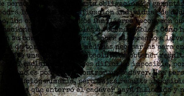 Carta abierta al diputado Rafael Hernando. Muertos sin sepultura