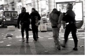 """Fotografías de la manifestación del 27 de enero de 2011, en Madrid, en contra del """"Pensionazo""""."""