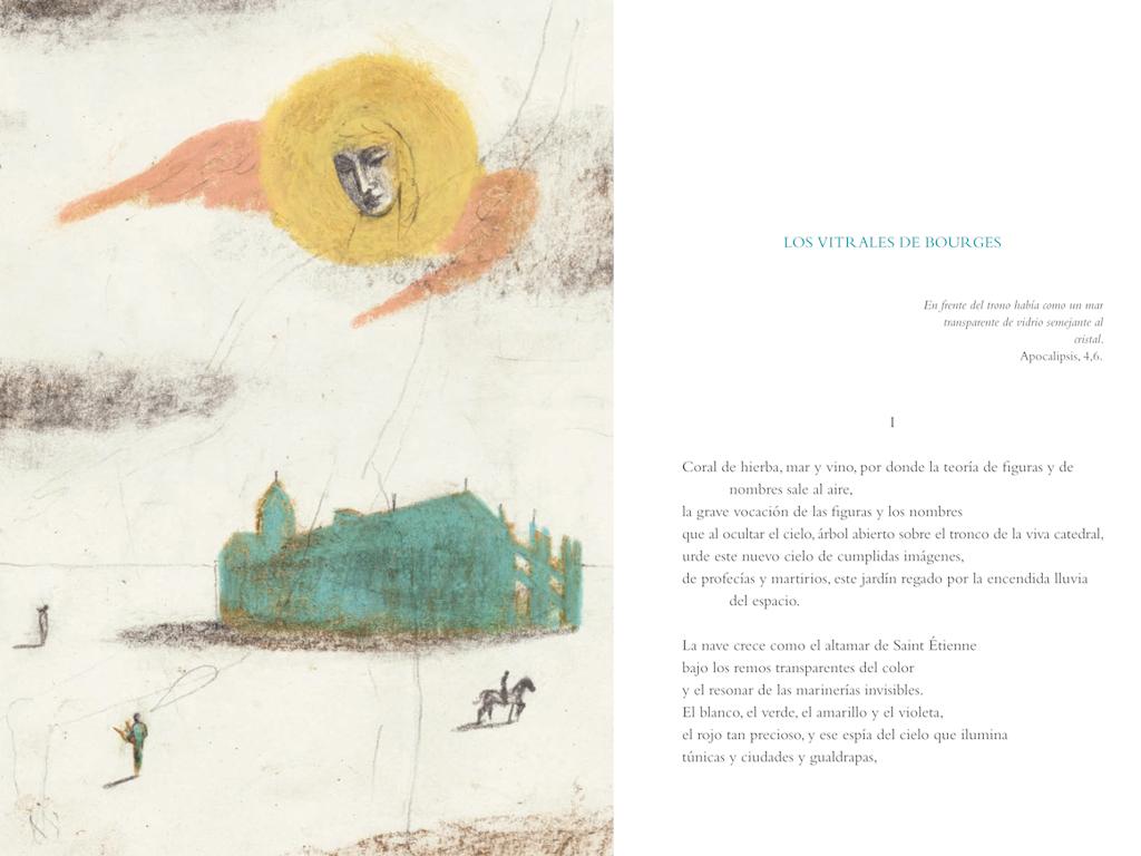 Ilustración de Pablo Auladell para el poema 'Los vitrales de Bourges'.