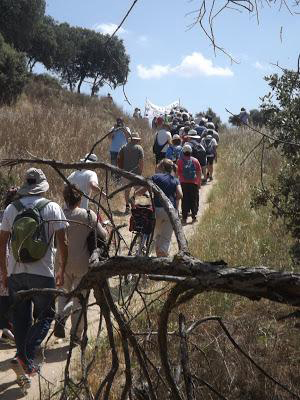 Primera Marcha para salvar el Parque del Este de Tres Cantos, el 3 de junio 2017. Fotografía: Pedro Pozas.