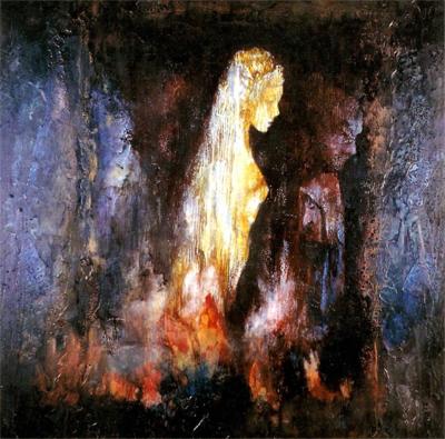 'Eurídice en el Tártaro de los Infiernos', obra expuesta en Universo Guajardo, pintura púnica.