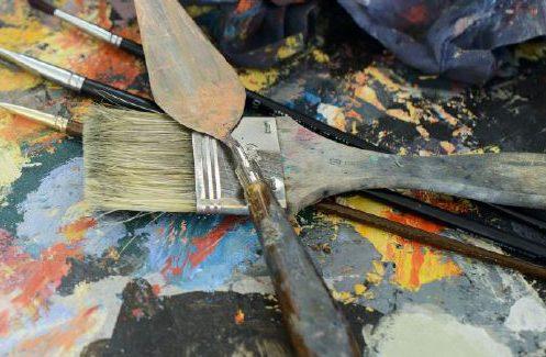 Exposición colectiva de pintura 'Intercambios', en el Centro García Lorca de Humanes