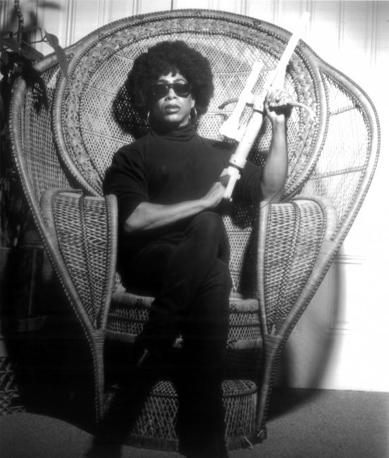 Joan Jett Blakk for President, 1992. Póster, firmado por la artista. Fotografía de Marc Geller.