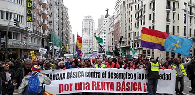 Marcha Básica contra el Paro y la Precariedad: a los caminantes y a Miguel Hernández
