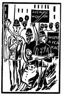 Ilustración de Antonio Santos para el libro, 'Virginia Woolf, las olas'.