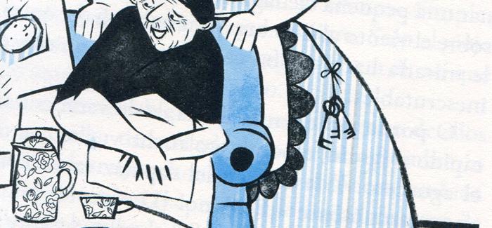 Ilustración de Begoña Fumero, para la edición de Traspiés de El hombre que amaba las islas.