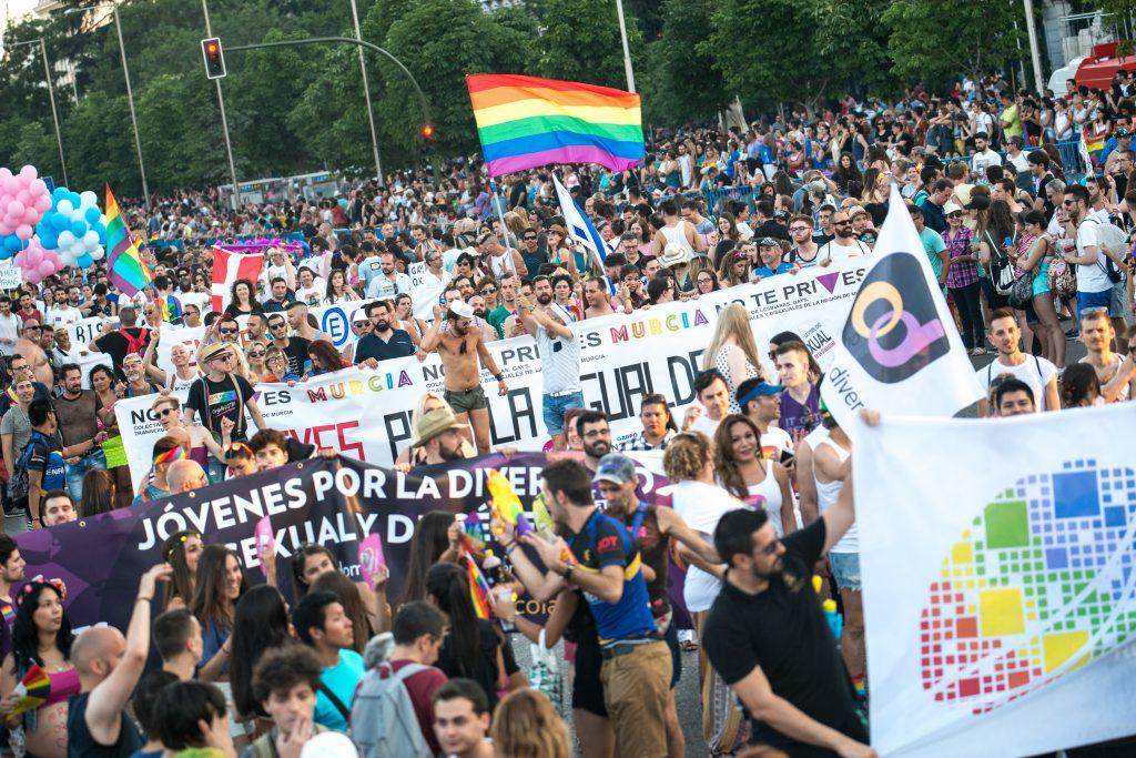 Manifestación del Día del Orgullo, el año pasado, en Madrid.
