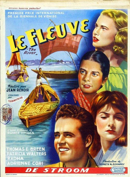 Cartel original de la película 'El río', de Jean Renoir (1951).