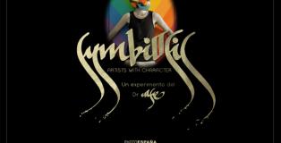 Cartel de la Exposición Symbiosis, del Dr. Case, sobre artistas madrileños, en La Fiambrera.