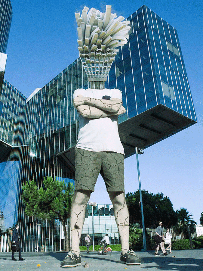 Artista fotografiado: Víctor Enrich, obra de Dr. Case, exposición Symbiosis.