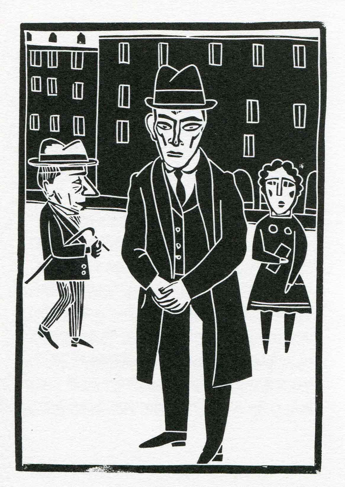 Jesús Marchamalo, Kafka con sombrero; ilustrado por Antonio Santos; Madrid, Nórdica Libros, 2015 .