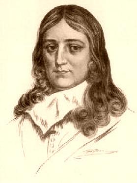 """John Milton, autor de """"El paraíso perdido""""."""