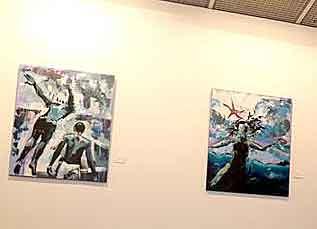 Inaugurada en Leganés la exposición 'Bajo la piel salada', del pintor Javier Mena