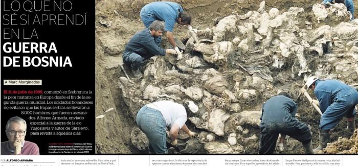 """""""En Bosnia la violencia y la limpieza étnica consiguieron su objetivo. Ahora es un país imposible y desgarrado"""""""