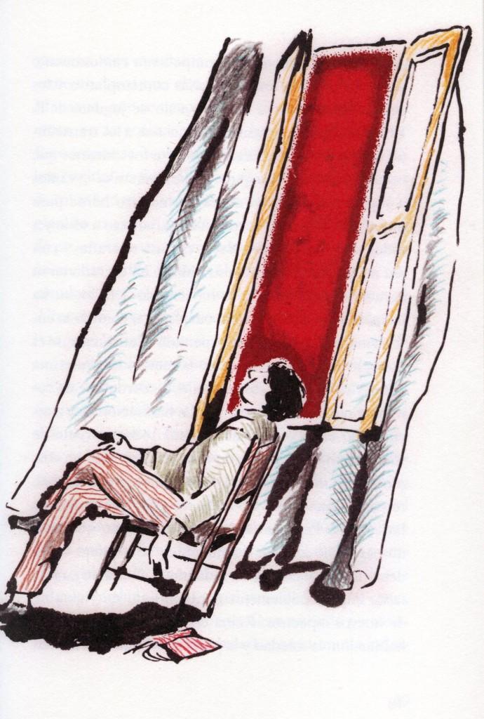 "Ilustración de Nicolai Troshinsky para la novela ""Noches Blancas"", de Dostoievski."
