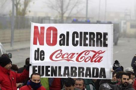 Los trabajadores de Coca Cola en Lucha visitarán hoy la caseta de fiestas de Ganemos Sanse