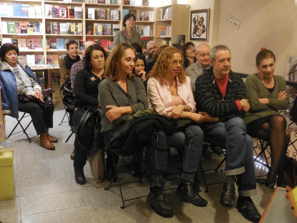 Asistentes en la presentación de 'Animales que no se pueden acariciar', en Cervantes y Compañía.