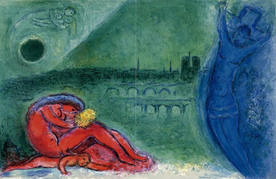 Muelle de la Tournelle (1960), Marc Chagall.