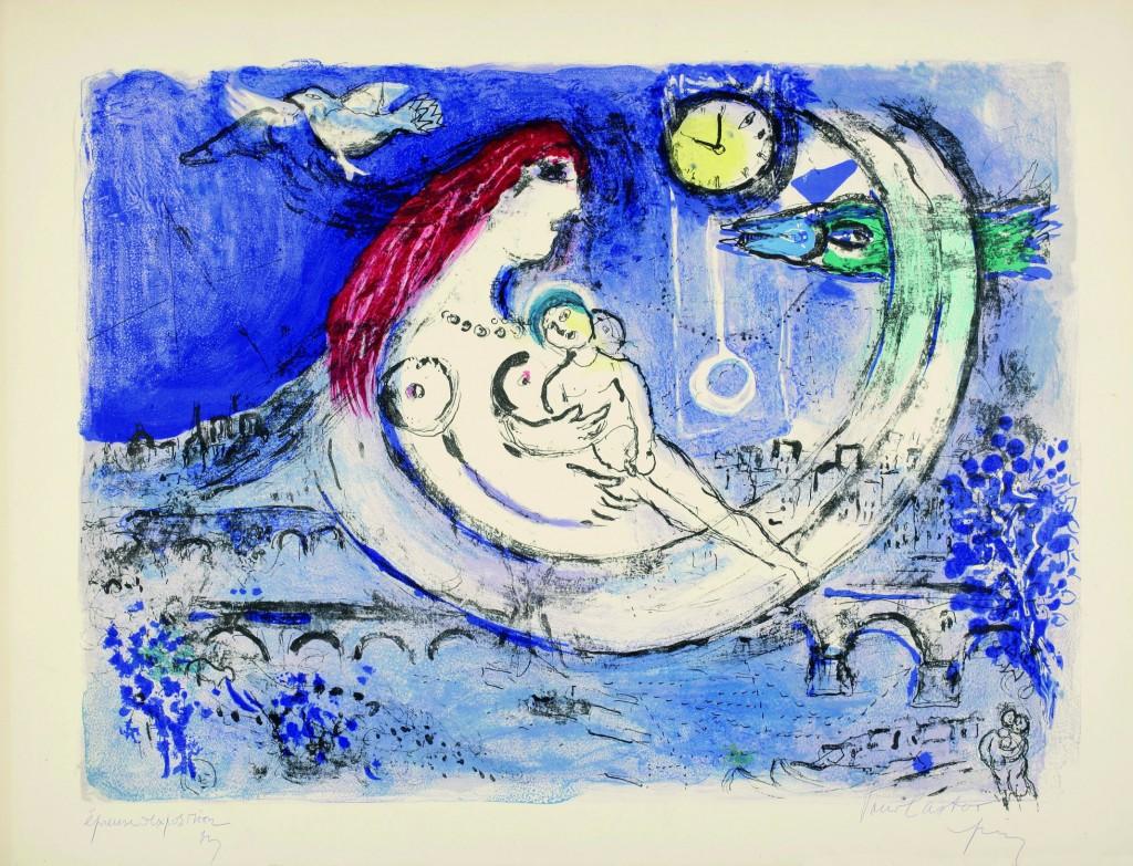 Paisaje azul (1958), Marc Chagall.