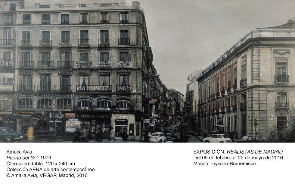 Amalia Avia. Puerta del Sol, 1979