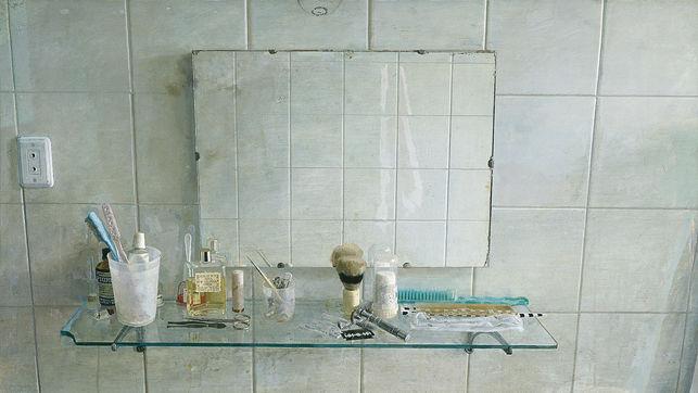 Lavabo y espejo, 1967, Antonio López.