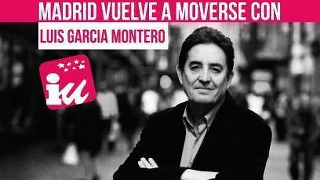 Cartel de Luis García Montero, candidato a la Comunidad de Madrid, por IU, en las últimas elecciones autonómicas.