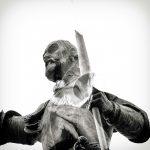 Fotografía de Paco Blanco. Estatua de El Quijote, en la Plaza de España.