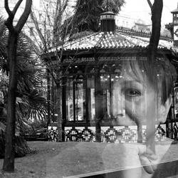 Fotografía de Vázquez-Campón. Terraza del Café El Espejo.