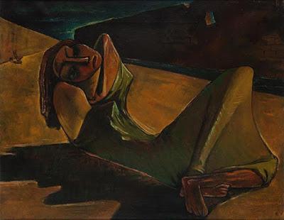 'Contra el muro', pintura de Ramses Younane.