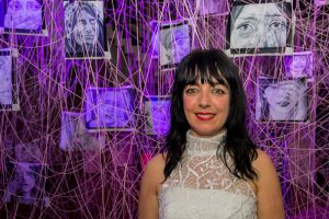La artista Patricia López Landabaso.