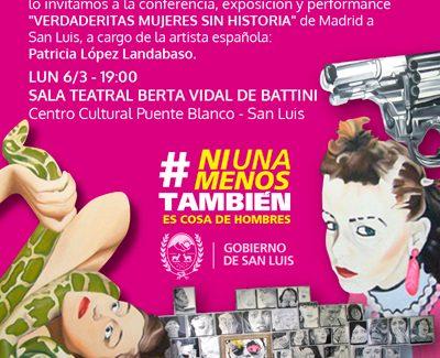 Exposición y performance de Patricia López Landabaso, 'Verdaderitas mujeres sin historia', de Madrid a San Luis