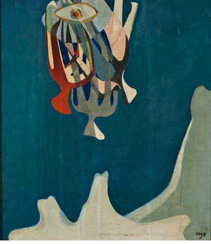"""'El pájaro"""", pintura de Mayo."""