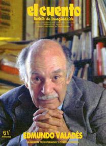 Edmundo Valadés en la portada de El cuento, revista de imaginación.