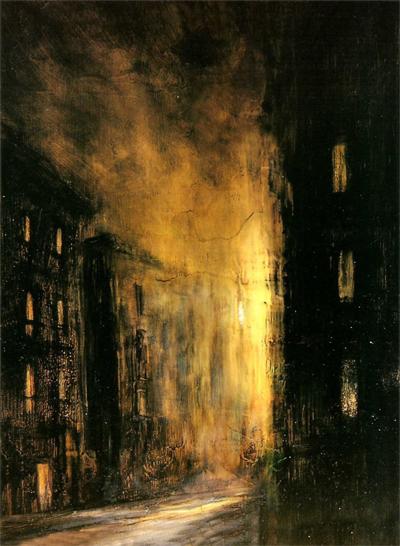 'Perspectiva oblicua', pintura expuesta en Universo Guajardo, pintura púnica.