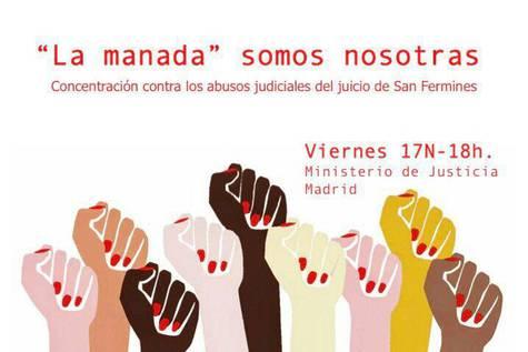 'La manada somos nosotras': protesta en Madrid para denunciar los abusos judiciales en el juicio de los sanfermines
