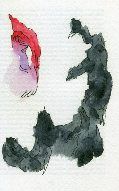 Ilustración de Alberto López Corcuera. La letra escarlata (editorial Sexto Piso, 2017).