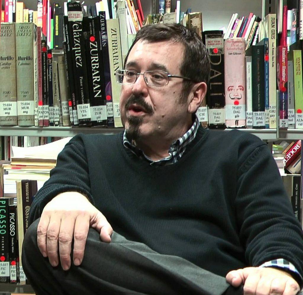 Javier Barreiro, autor de 'Alcohol y Literatura' (2017), ensayo publicado en la editorial Menoscuarto.
