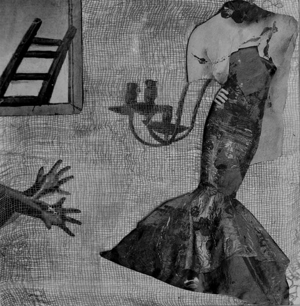 Collage de Emi Yagüe, incluido en el libro 'Traspiés voluntarios'.