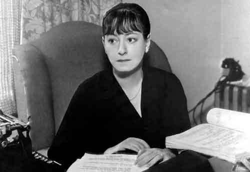 La escritora estadounidense Dorothy Parker.