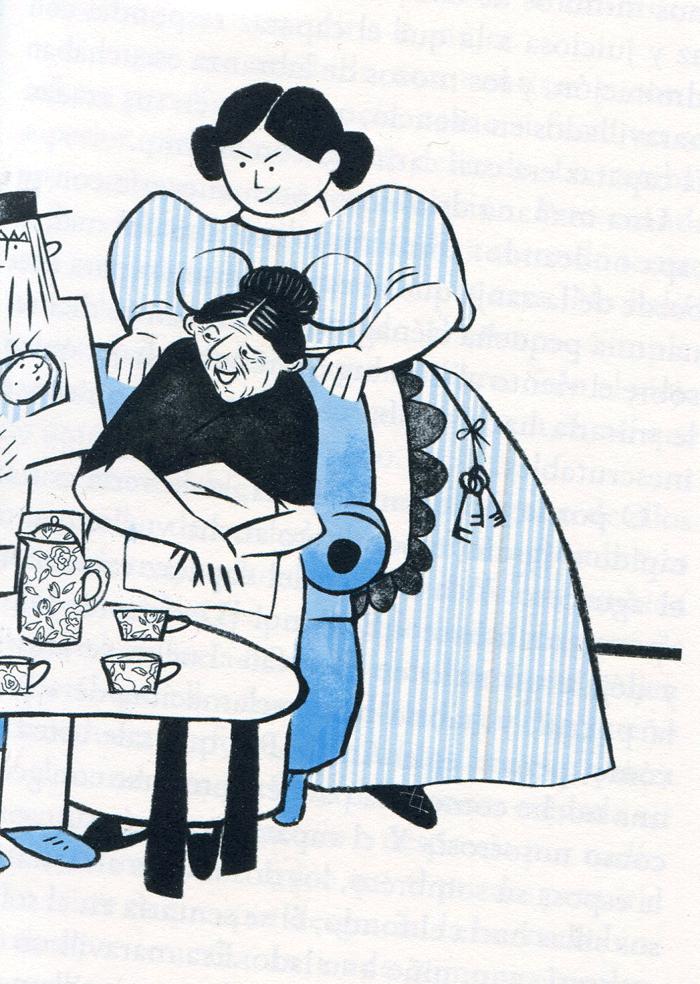 Ilustración de Begoña Fumero, para la edición de Traspiés, de El hombre que amaba las islas.