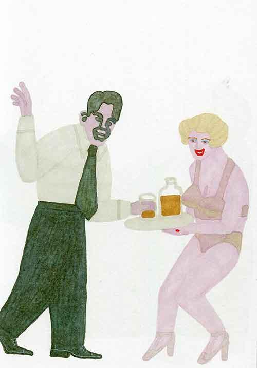 Ilustración de Elisa Arguilé, para 'Una Rubia imponente', de Círculo de Lectores/ Nórdica.