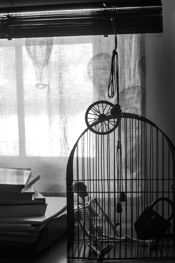 Carcoma para una ventana. Fotografía de Julio Jurado incluida en 'Traspiés voluntarios'.