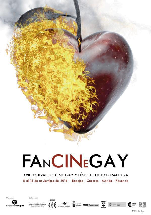 Cartepara el 17º Festival de Cine Gay y Lésbico de Extremadura, FanCineGay 2014.