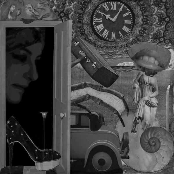 Quimera del desorden. Collage de Emi Yagüe incluido en 'Traspiés voluntarios'.